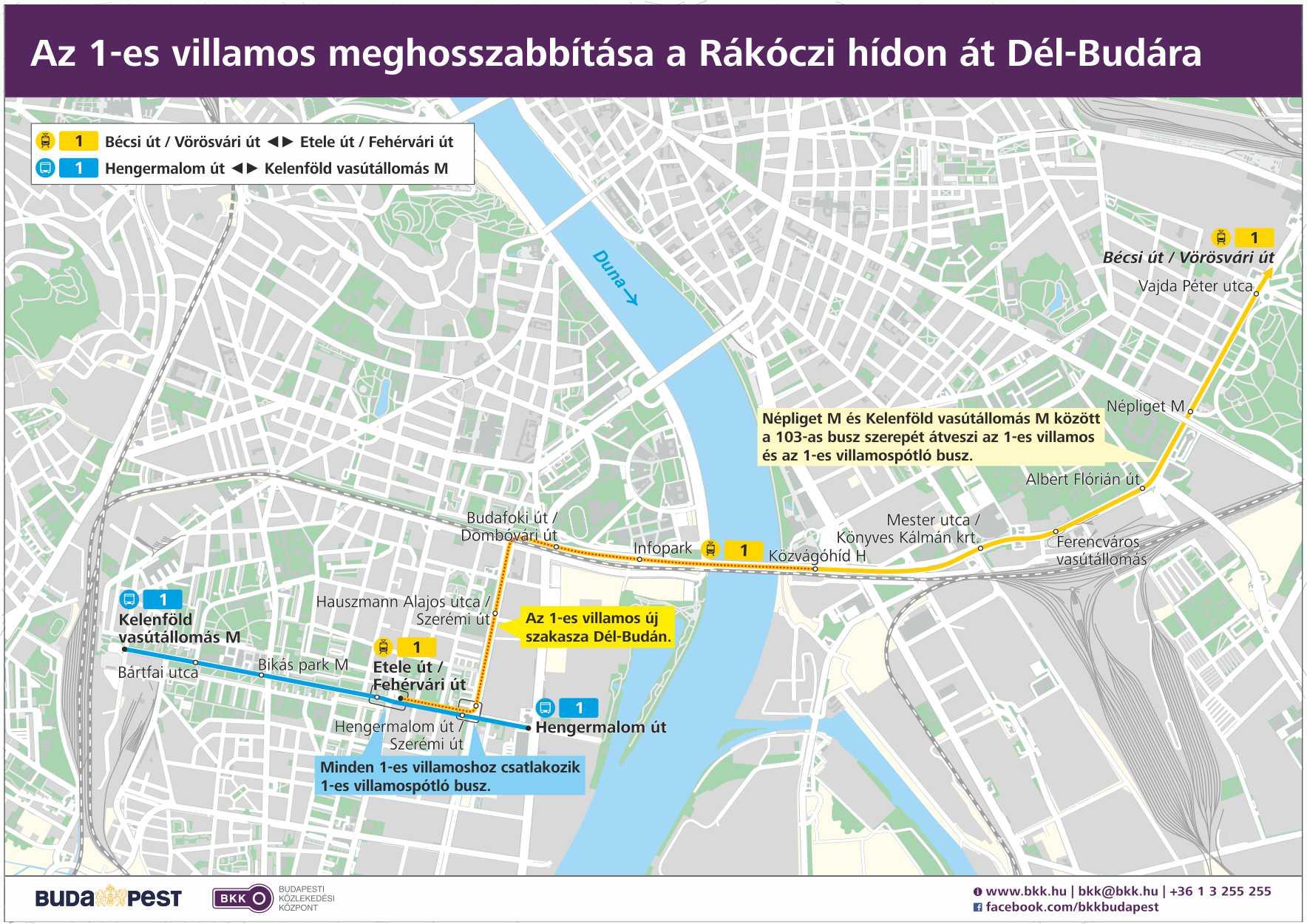 budapest 1 es villamos térkép Társadalami egyeztetés (1 es villamos)   Budapesti Közlekedési  budapest 1 es villamos térkép